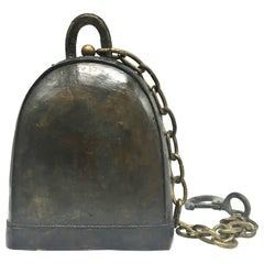 Bronze Antique Tibetan Temple Bell Substantial