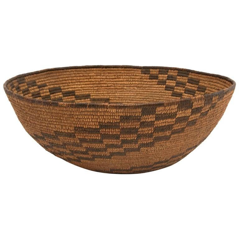 Antique Southwestern Native American Basketry Bowl, Apache, circa 1890