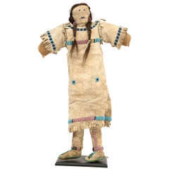 Antique Native American Beaded Doll, Plains, circa 1890
