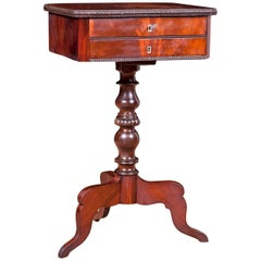 19th Century Side Table or Wine Table in Mahogany with Drawers