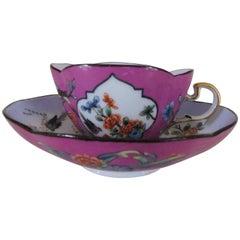 Antique 18th Century Meissen Porcelain Kakiemon Cup and Saucer