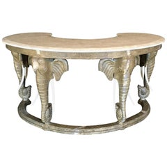 Maitland-Smith Desk Console with Elephant Motif
