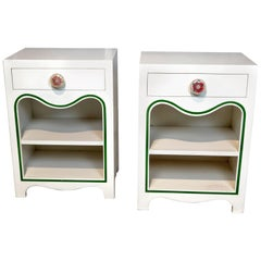 Dorothy Draper Pair of Nightstands, the Greenbrier Resort 1948