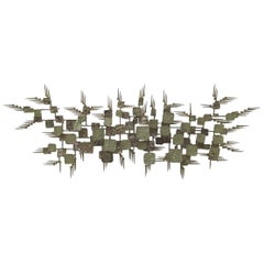 Abstract Midcentury Metal Wall Sculpture