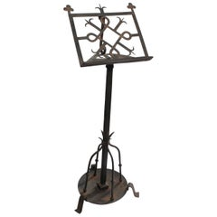 20th Century Handmade Iron Book Stand by Martins Stanford