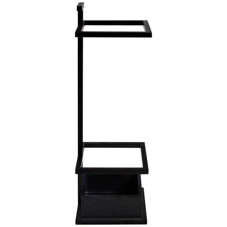 modern bacco umbrella stand in steel powder coated and corian tray Modern Umbrella Stand