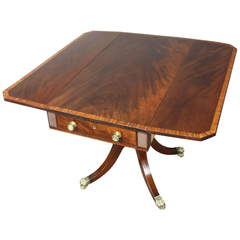 Regency Mahogany Pembroke Table 1