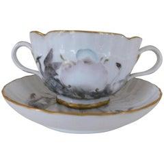 Meissen Porcelain Swan Service Cup and Saucer Porzellan Schwanenservice Tasse