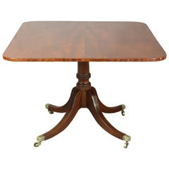 English Regency Mahogany Breakfast Table