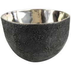 Crater Bowl in White Bronze by Christopher Kreiling