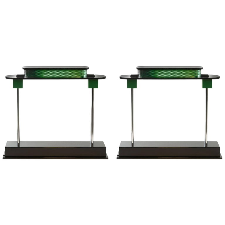 Ettore Sottsass, Two Pausania Table Lamps, 1982 1
