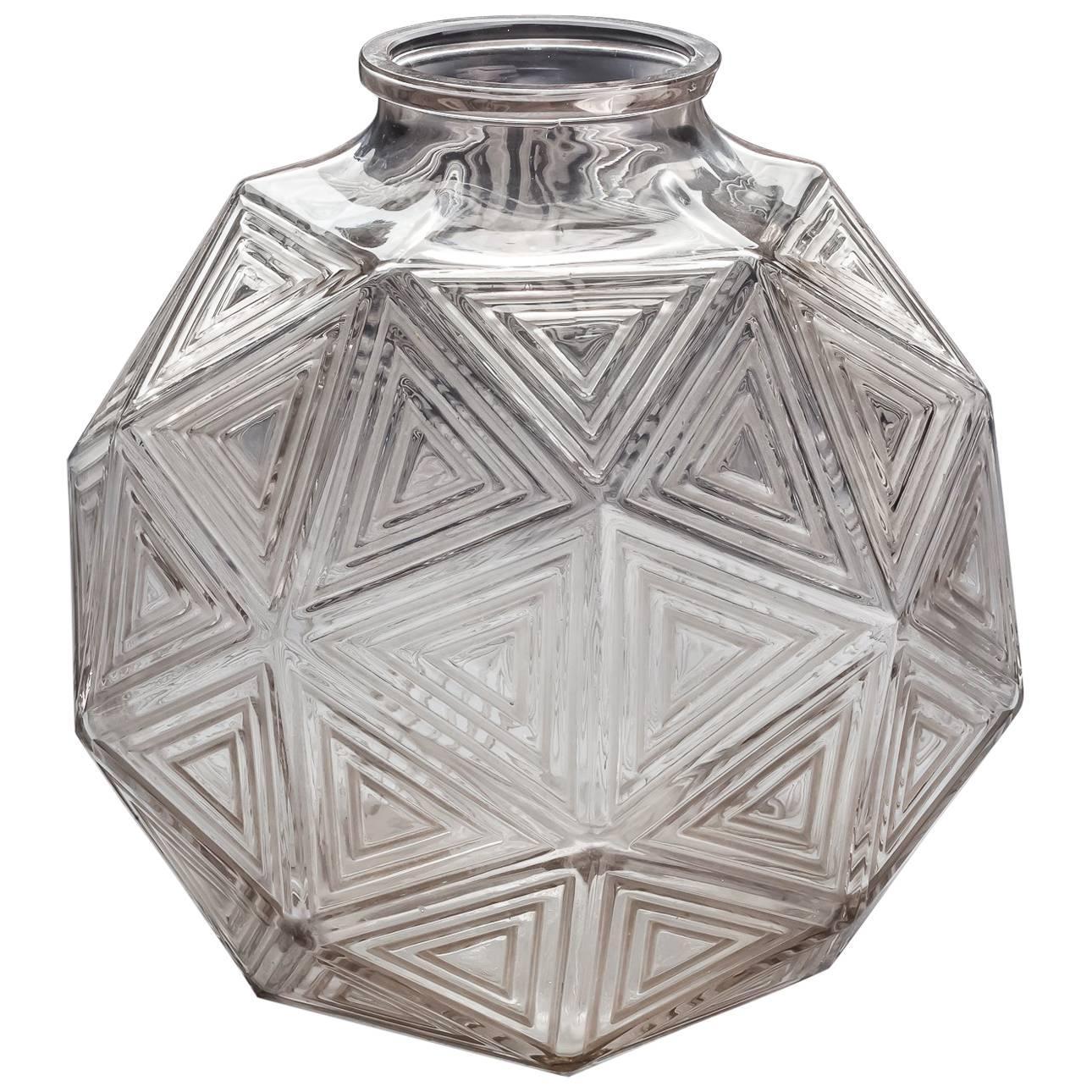 Art Deco Glass Vase by Rene Lalique