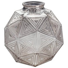 Art Deco Glass Vase by Rene Lalique