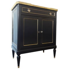 Antique French Louis XVI Style Chest of Drawers Commode Buffet Bar