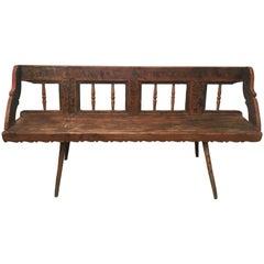 Antique European Bench, 1860s