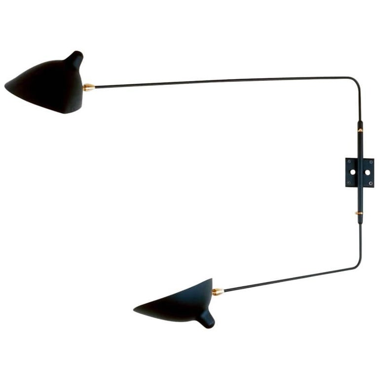 Rotating Two-Arm Sconce by Serge Mouille