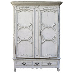 Antique French Regence Style Armoire, 18th Century