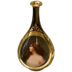 "Exquisite Royal Vienna Cabinet Vase, Draped Nude ""Erbluht"""