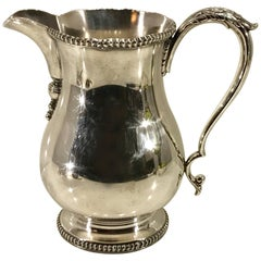 Substantial Georgian Style Silver Plated Water Pitcher