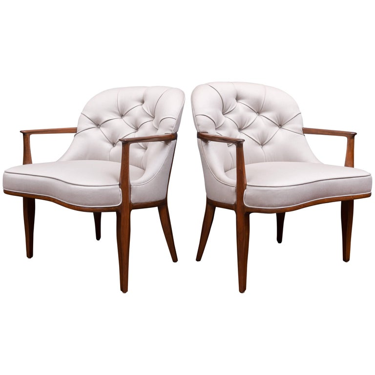 Pair of Janus Lounge Chairs by Edward Wormley for Dunbar