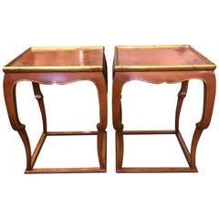 Pair of Chinoiserie Side Tables