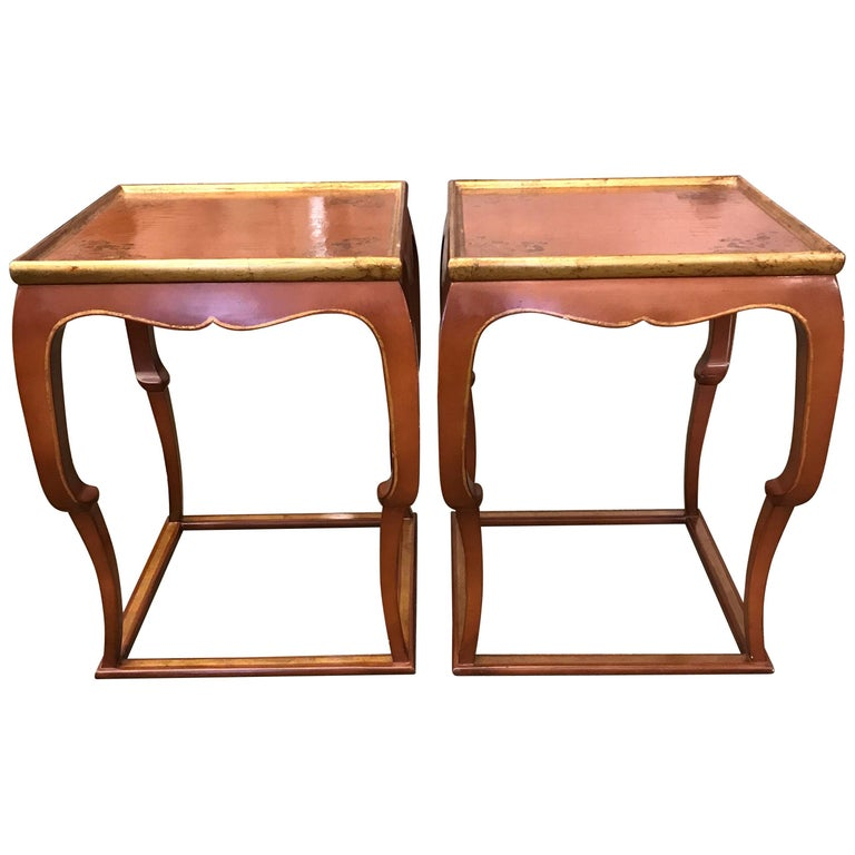 Pair of Chinoiserie Side Tables 1