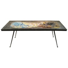 "Rare Glass ""Mosaico"" Table by Gaspari for Salviati"