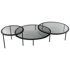 Gallotti & Radice Taffy Coffee Tables in Four Colors of Screen Printed Glass