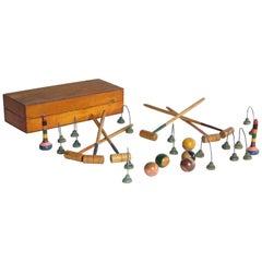 Tabletop Croquet Set