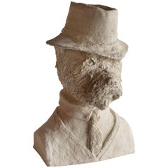 Plaster Bust of Terrier