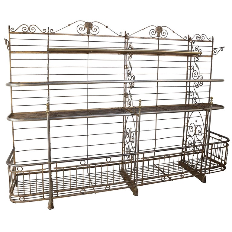 Antique French Bakers Rack For Sale