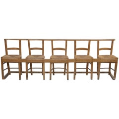 Antique Five-Chair Gang Seating