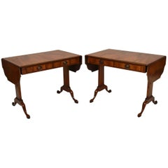 Pair of Antique Burr Walnut Sofa Tables