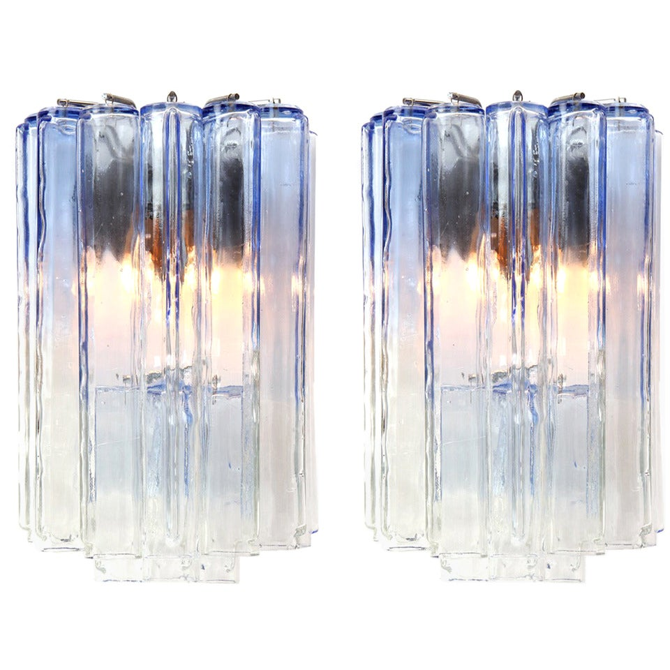 Pair of Italian Glass Sconces
