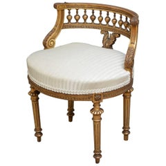 Turn of the Century Giltwood Chair