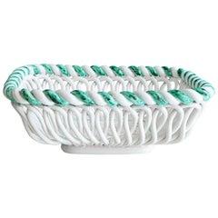 Vintage Primavera Ceramic Basket