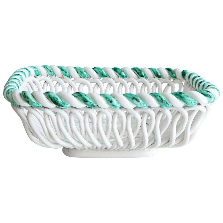 Vintage Primavera Ceramic Basket 1
