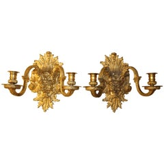 Baroque Gilt Bronze Sconces