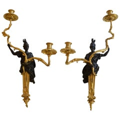 Pair of 17th Century Wall Sconces in the Manner of André-Charles Boulle