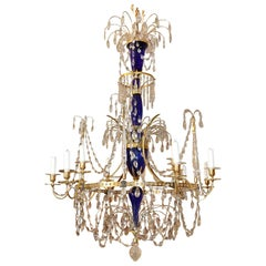 Late 18th Century, Russian Gilt Bronze and Crystal Chandelier