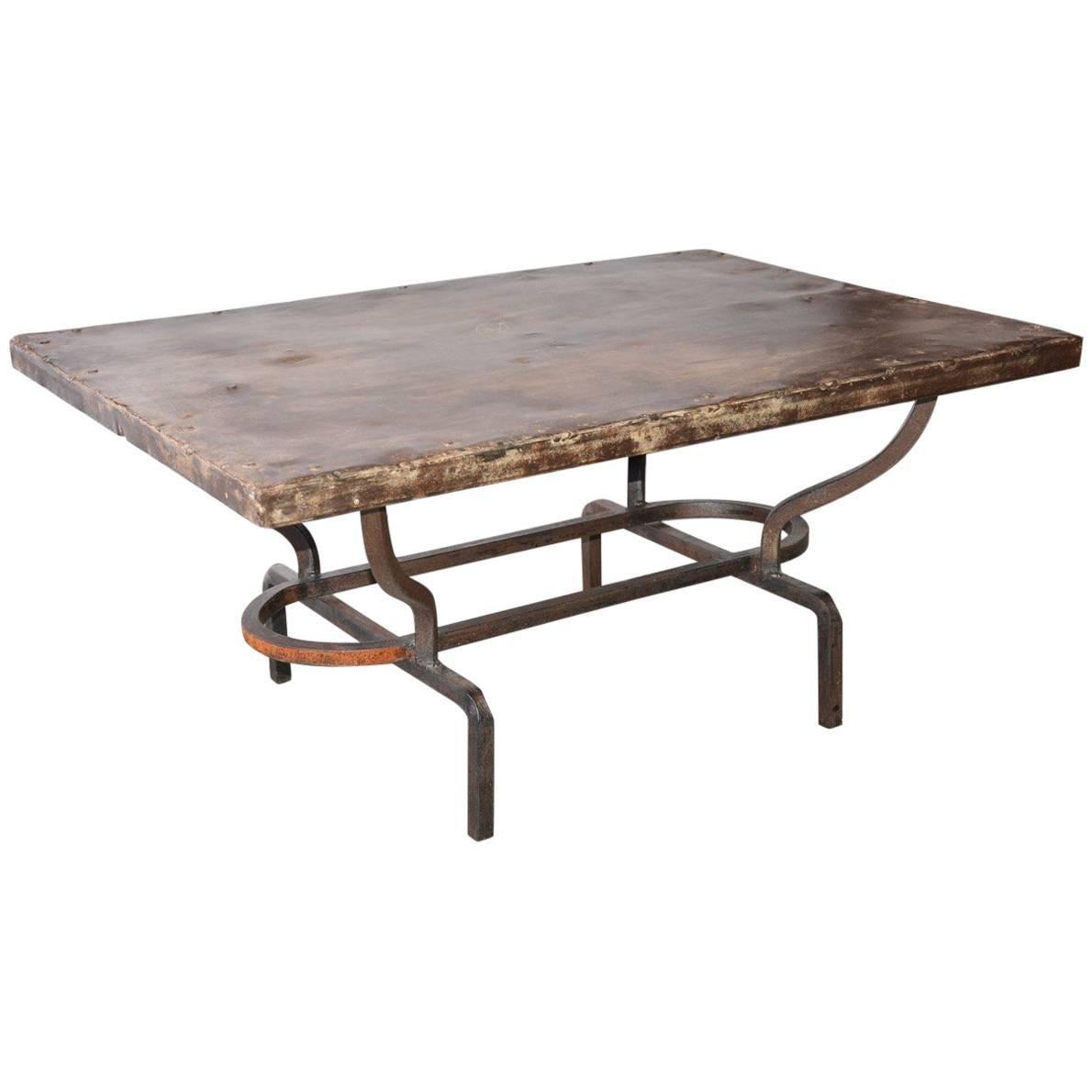 Wonderful Cast Iron Metal Top Indoor Or Outdoor Garden Coffee Table
