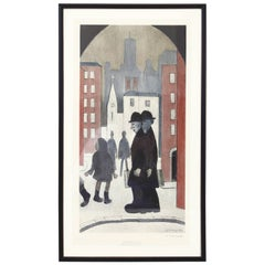 'Two Brothers' Lithograph by L.S.Lowry, (RA)
