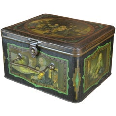 Tin Box with Music Scenes Dutch Golden Age