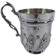 Antique English Sterling Silver Baby Cup by Martin, Hall