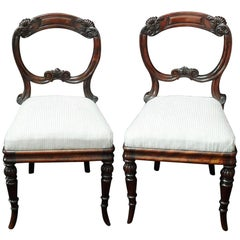 Pair of English Regency Simulated Rosewood Chairs Attributed to Gillows