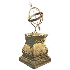 European Antique Sun Dial, circa 1500