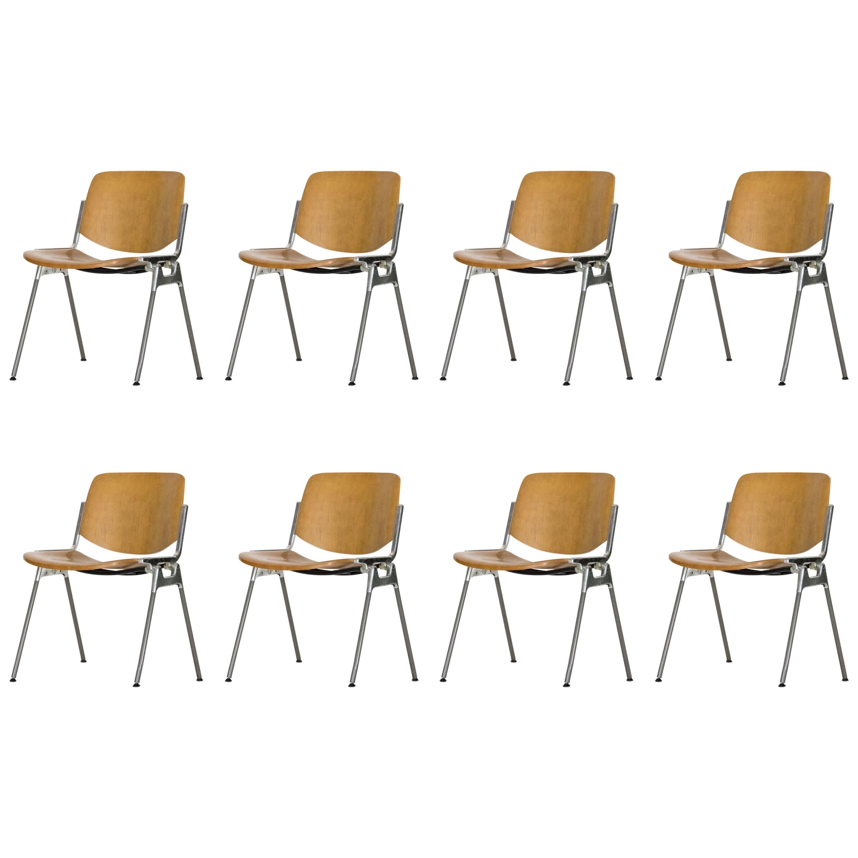 Set of Eight DSC 106 Chairs by Giancarlo Piretti