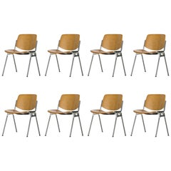 Set of Eight DSC 106 Chairs by Giancarlo Piretti