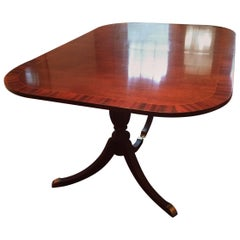 Beautiful Very Large Double Pedestal Mahogany Dining Table
