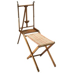 Rare Small Easel Used for Outside Folding, France, 19th Century